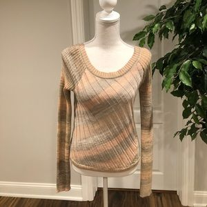Free People Crew Neck Sweater Neutral Size S